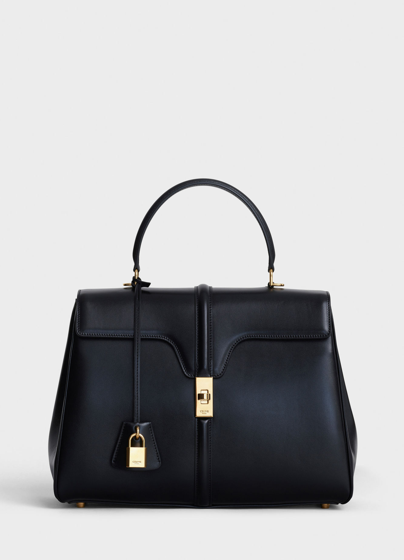 CELINE MEDIUM 16 BAG IN SATINATED CALFSKIN A187373 black