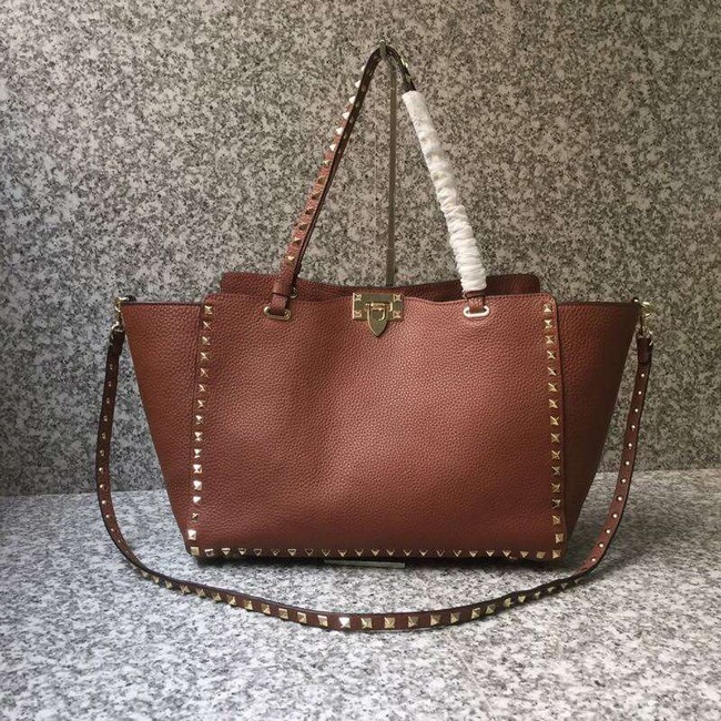VALENTINO Rockstud large tote 0973 brown