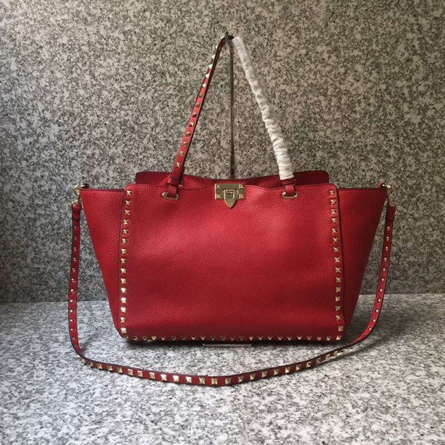 VALENTINO Rockstud large tote 0973 red