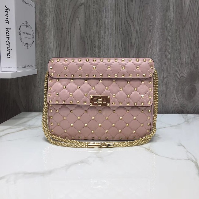 VALENTINO Quilted leather shoulder bag 45276 pink