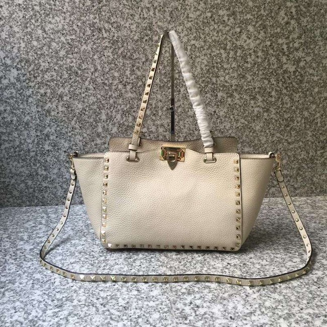 VALENTINO Rockstud medium tote 0972 white