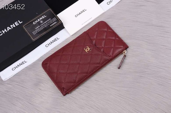 Chanel classic pouch Grained Calfskin& Gold-Tone Metal A84402 Burgundy