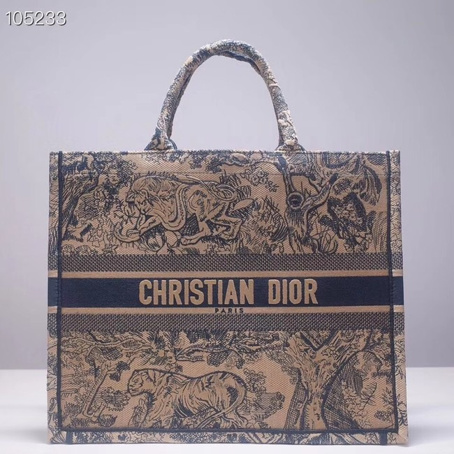 DIOR BOOK TOTE BAG TOILE DE JOUY M1286ZT green