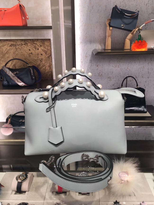 Fendi BY THE WAY REGULAR leather Boston bag 8BL124A white