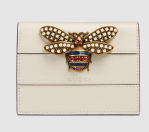 Gucci Queen Margaret leather card case 476072 White