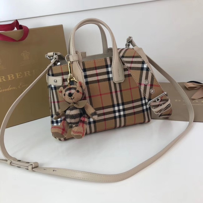 BURBERRY Baby Banner checked cross-body bag 10443 white