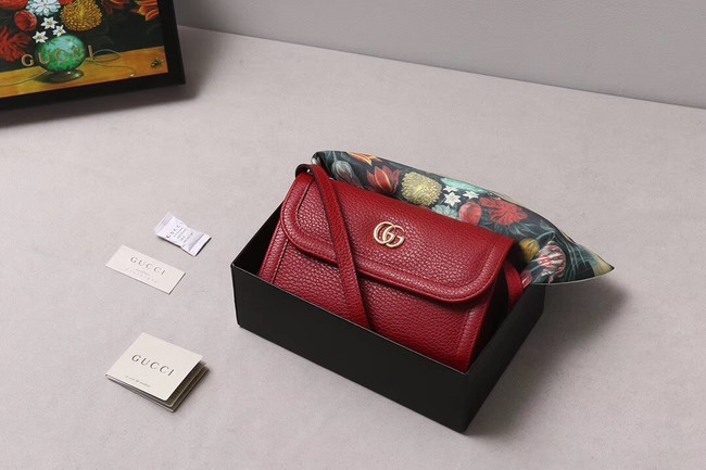 Gucci GG Marmont small shoulder bag 497984 red