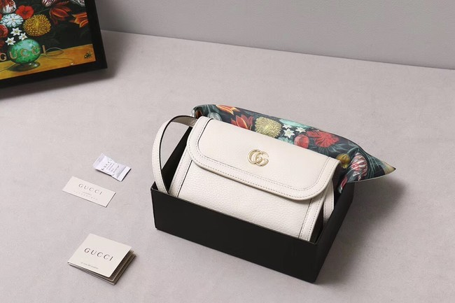 Gucci GG Marmont small shoulder bag 497984 white