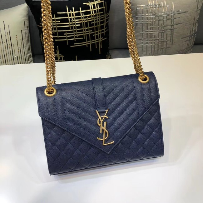 SAINT LAURENT Medium satchel 487206 dark blue