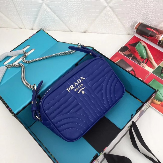 Prada Calf leather bag 183 blue
