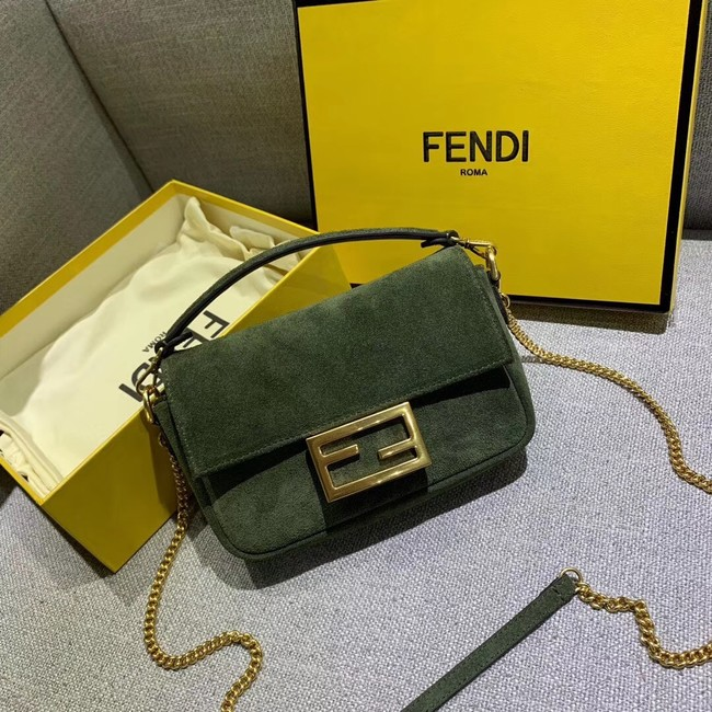 FENDI BAGUETTE Shoulder Bag 83013 green