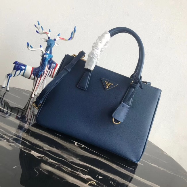 Prada Saffiano original Leather Tote Bag 1BA1801 blue
