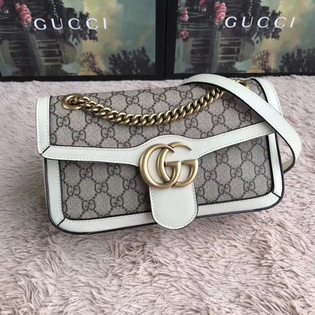 Gucci Ophidia GG Supreme small shoulder bag 443497 white