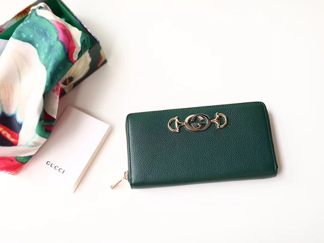 Gucci Zumi Wallet 570661 green
