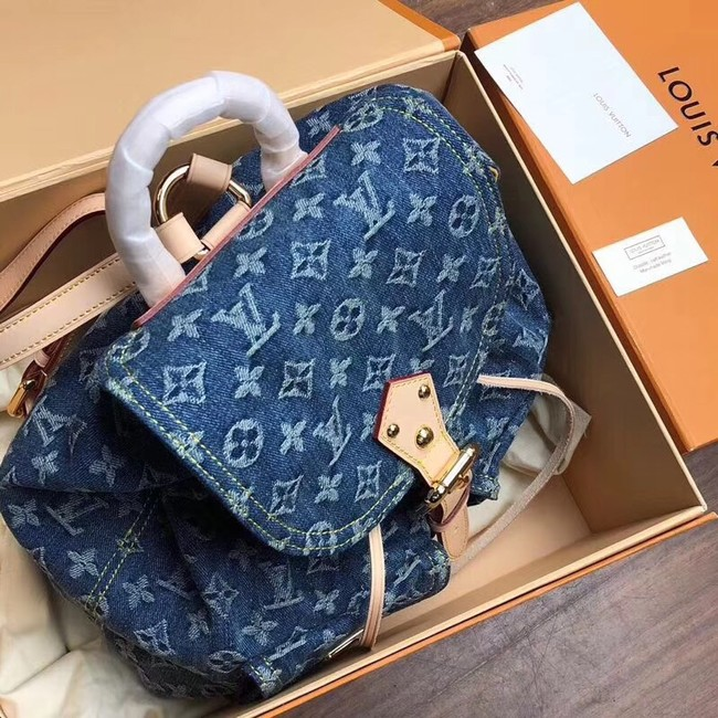 Louis Vuitton Denim Backpack M44460 blue