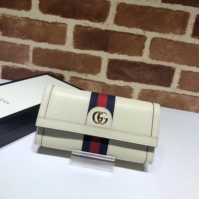 Gucci Ophidia leather wallet 523153 white