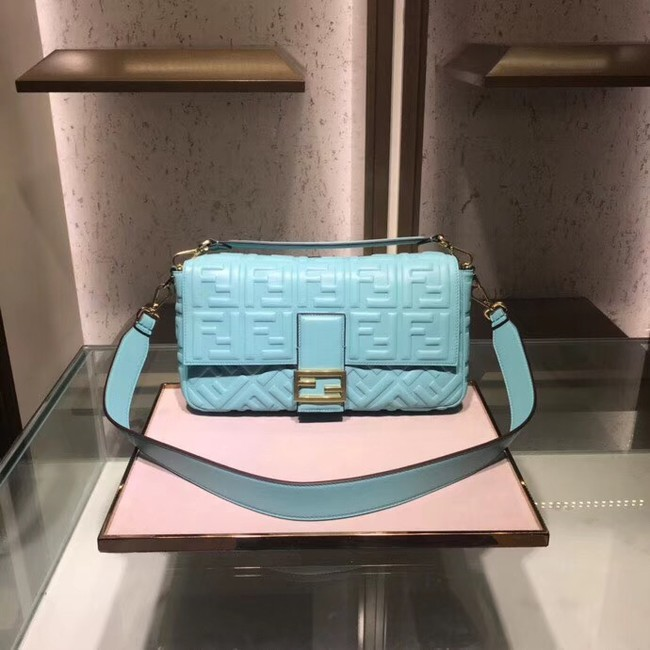 FENDI BAGUETTE large Shoulder Bag 8BR771A light blue