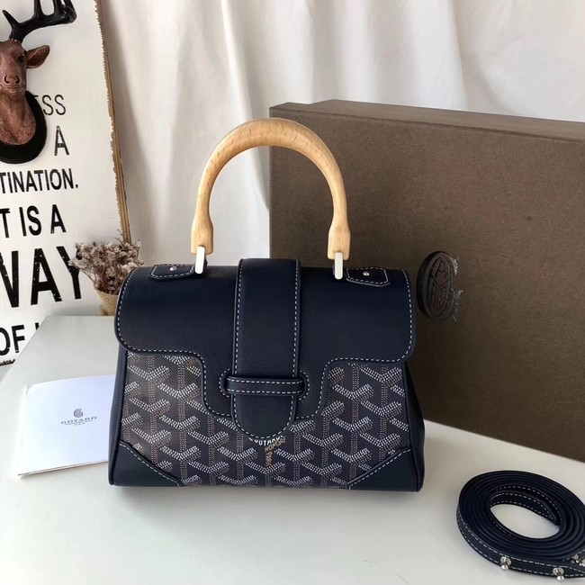 Goyard Calfskin Leather Mini Tote Bag 9955 dark blue