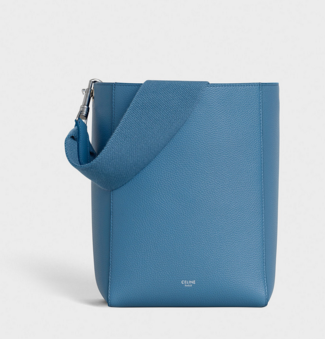 CELINE SANGLE SMALL BUCKET BAG IN SOFT GRAINED CALFSKIN 189303 BLUE