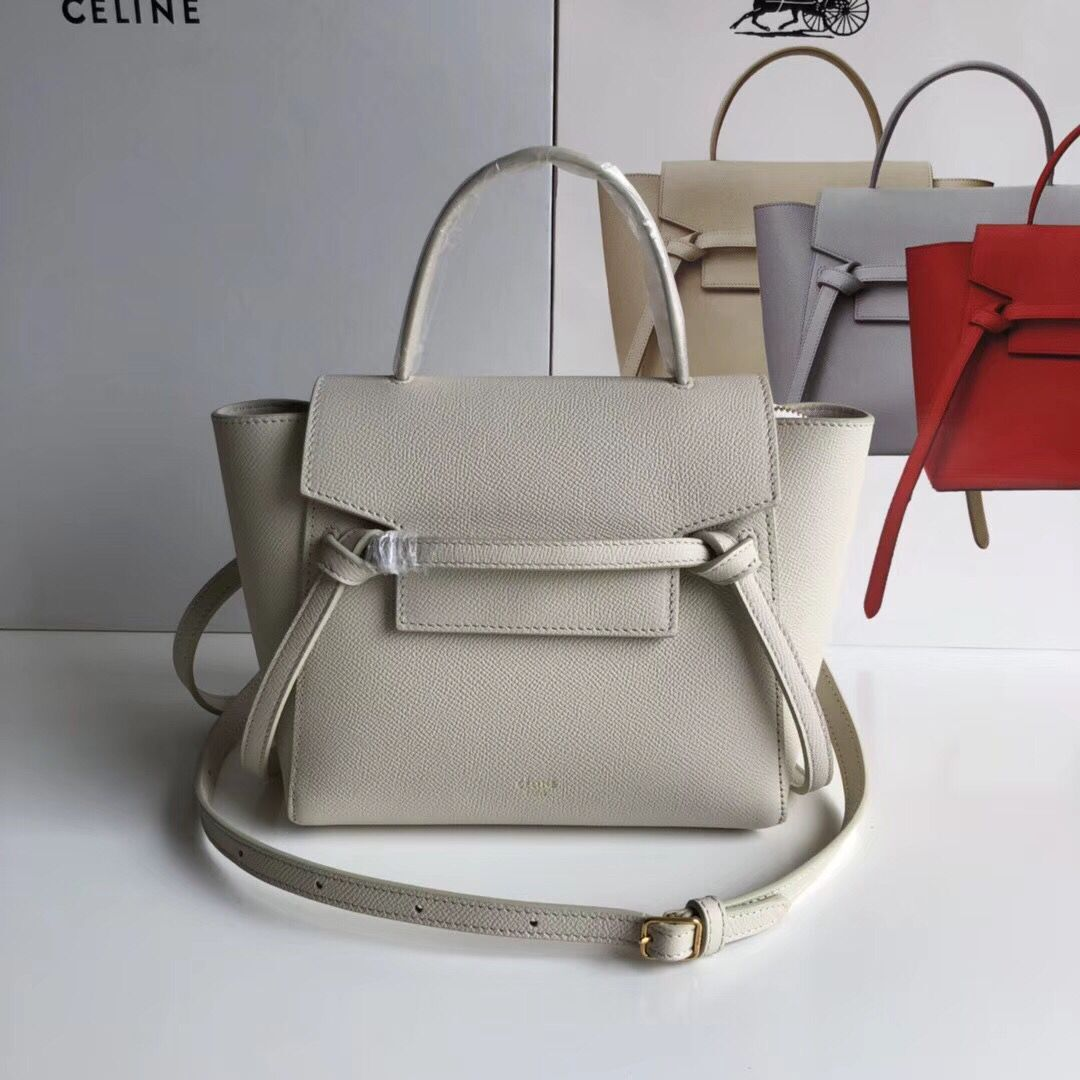 Celine NANO BELT BAG IN GRAINED CALFSKIN 99970 Offwhite