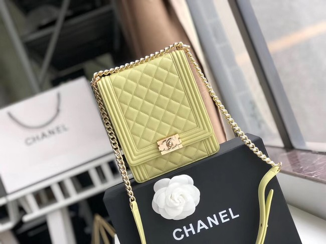 Boy chanel handbag Patent leather & Gold-Tone Metal AS0130 green