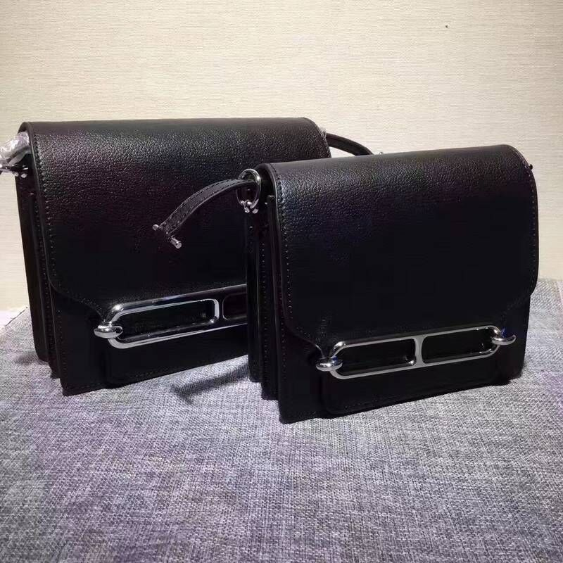Hermes Calfskin Leather H1519 Black