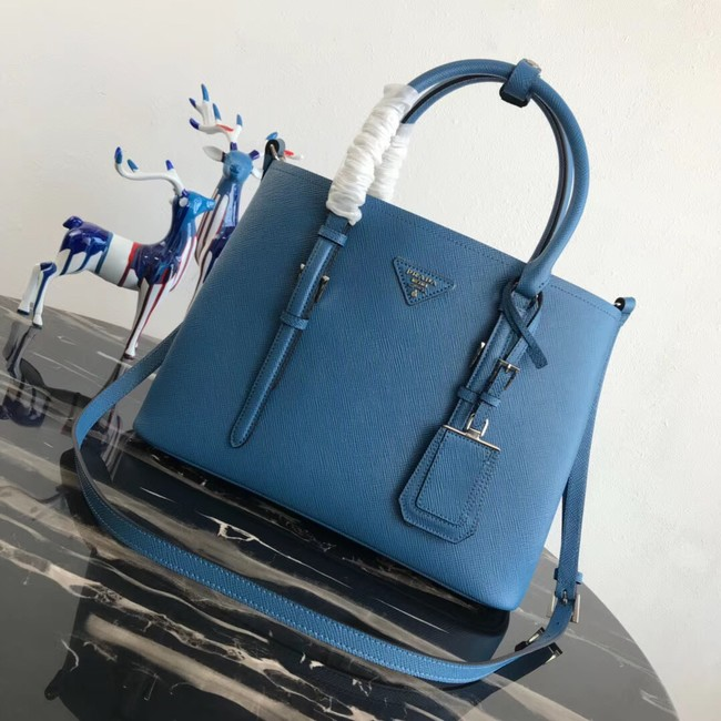 Prada Saffiano original Leather Tote Bag BN2838 blue