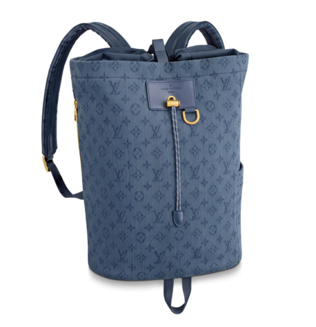 Louis vuitton original Monogram Denim CHALK M44617 blue