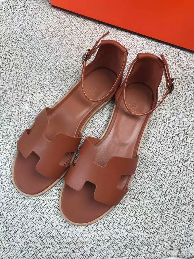 Hermes lady leather Sandals HO844OMF-2