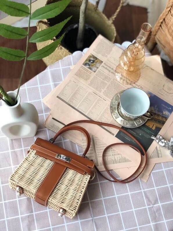 Hermes kelly picnic bag 9810 brown
