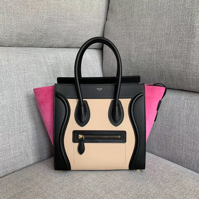 Celine Luggage Boston Tote Bags All Calfskin Leather 189793-3