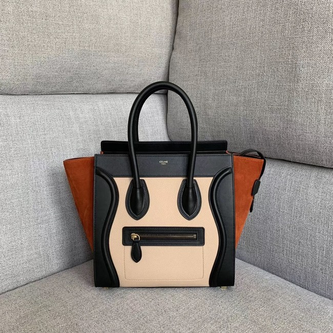 Celine Luggage Boston Tote Bags All Calfskin Leather 189793-5