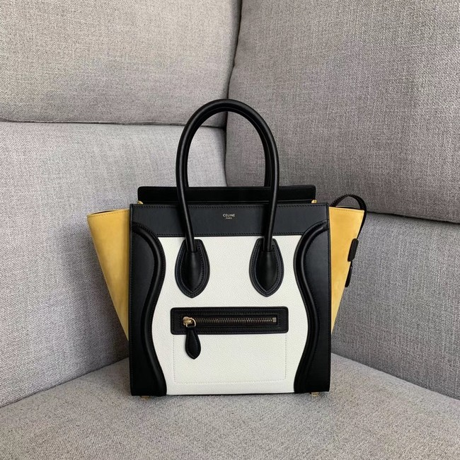 Celine Luggage Boston Tote Bags All Calfskin Leather 189793-6