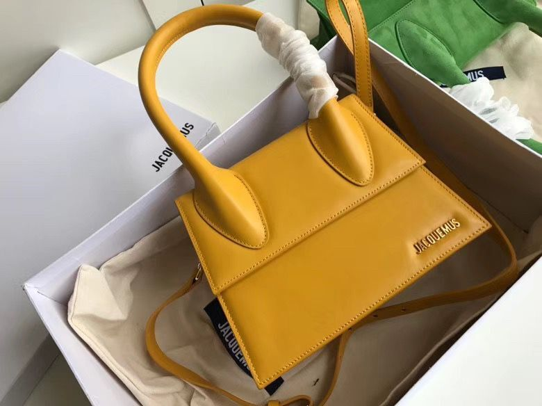 Jacquemus Original Leather Top Handle Bag J76235 Yellow
