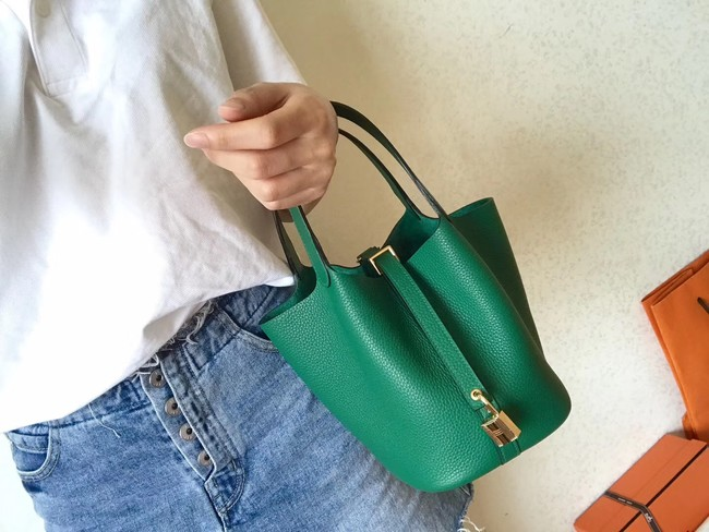 Hermes Picotin Lock PM Bags Original Leather H8688 green