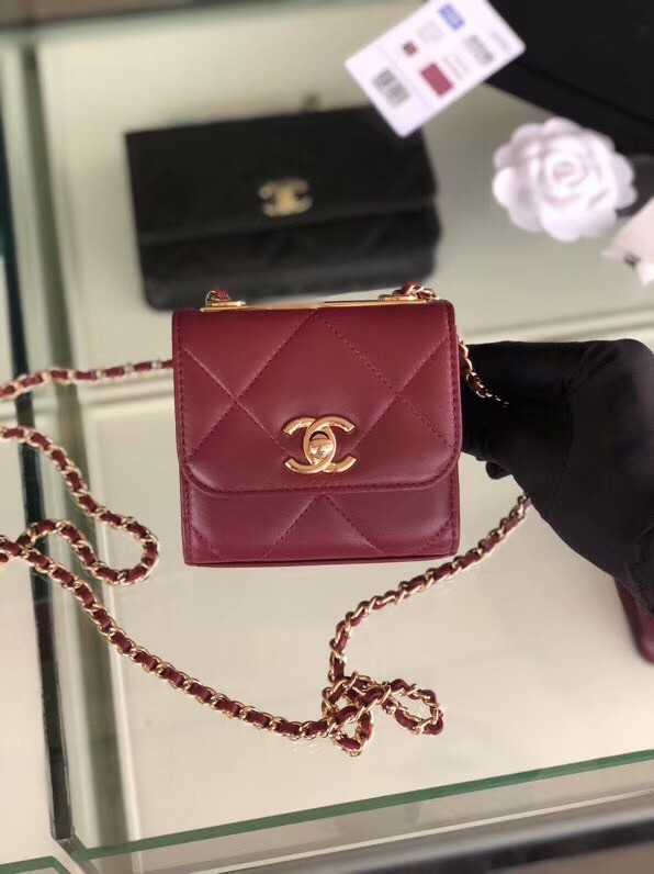 Chanel flap bag Lambskin & Gold-Tone Metal 3797 Purplish