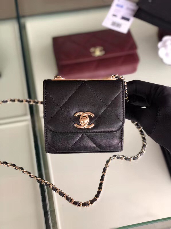 Chanel flap bag Lambskin & Gold-Tone Metal 3797 black
