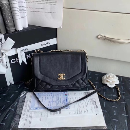 Chanel Shoulder Bag Original Leather Black AS0729 Gold