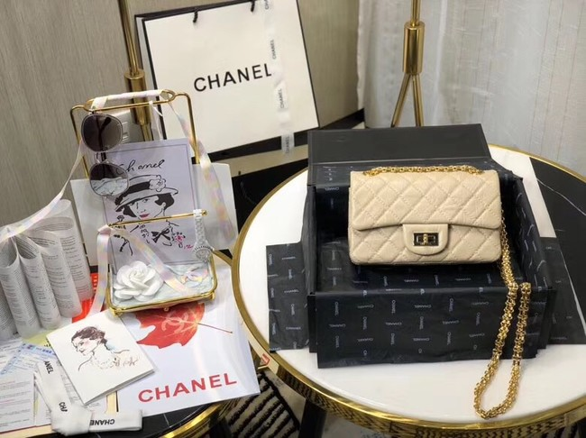 Chanel Shoulder Bag Original Leather Off White AS0874 Gold