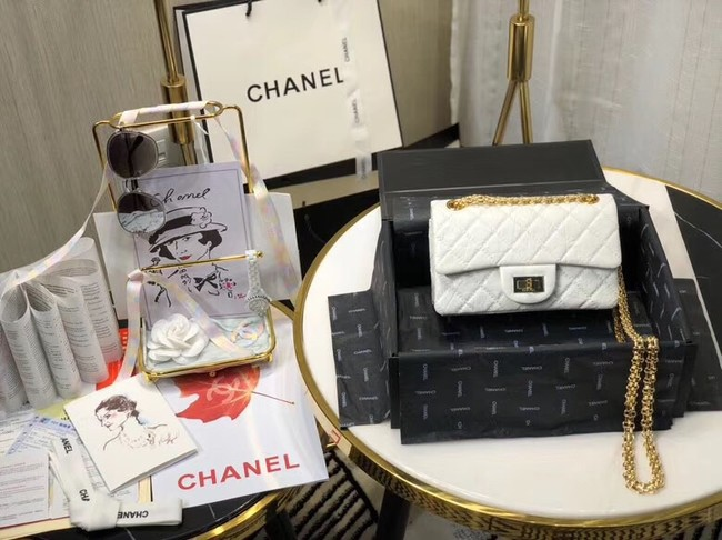 Chanel Shoulder Bag Original Leather White AS0874 Gold