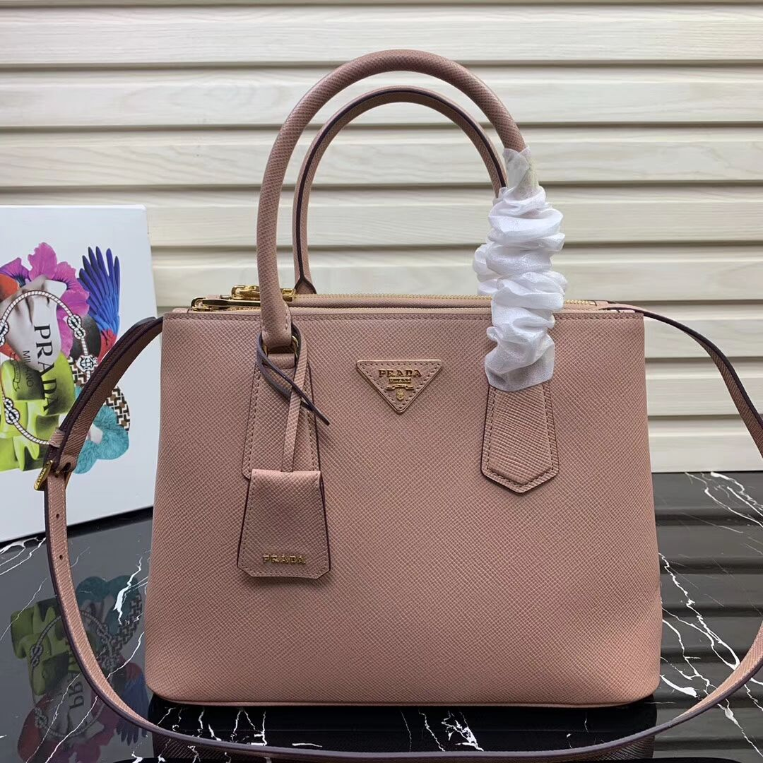 Prada Galleria Saffiano Leather Bag 1BA232 Pink