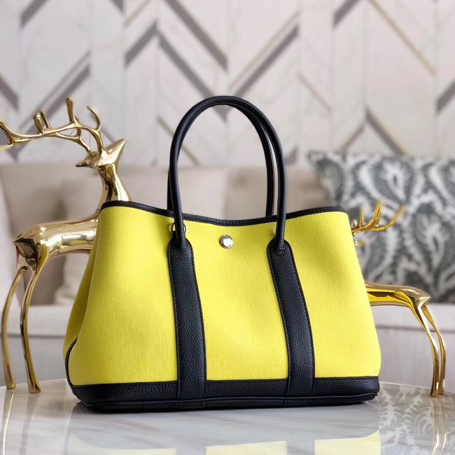 Hermes Garden Party 36cm Tote Bags Original Leather A3698 Yellow