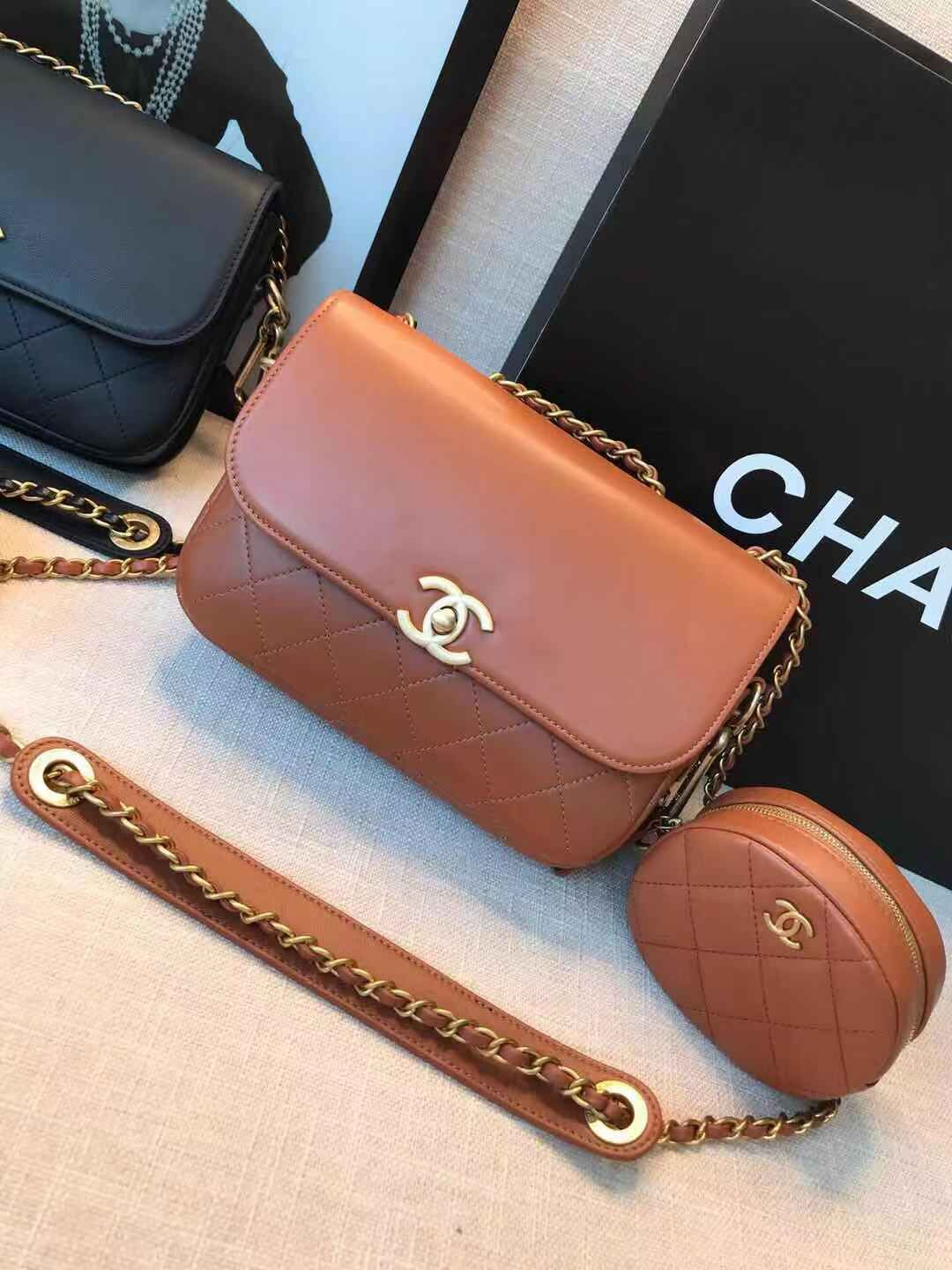 Chanel Original Leather Bag C5787 Brown