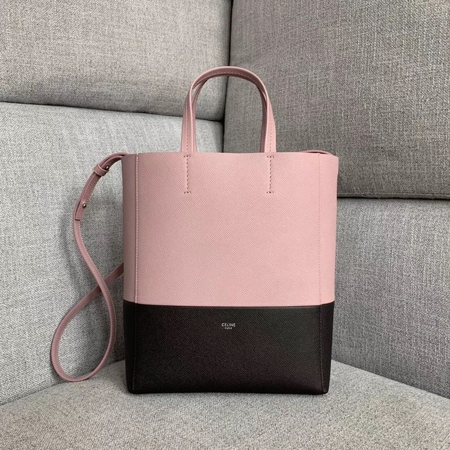 Celine Original Leather CABAS Bag 189813 Pink&Black