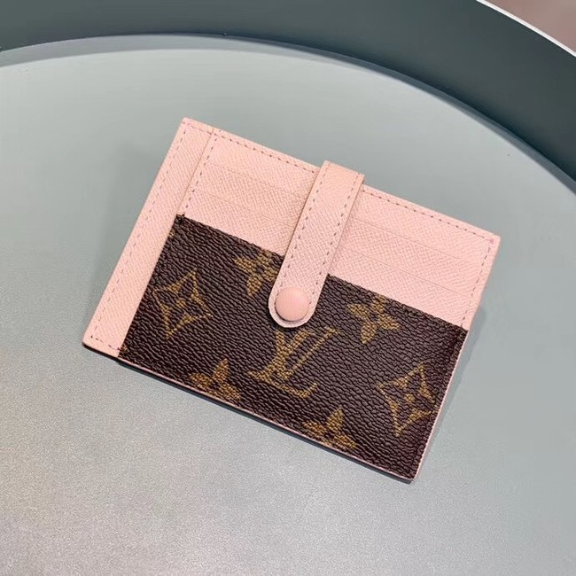 Louis Vuitton Monogram Canvas Card Holder M61730 Pink