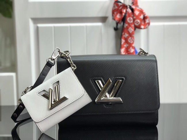 Louis vuitton original epi leather TWIST MM M50280 black&white