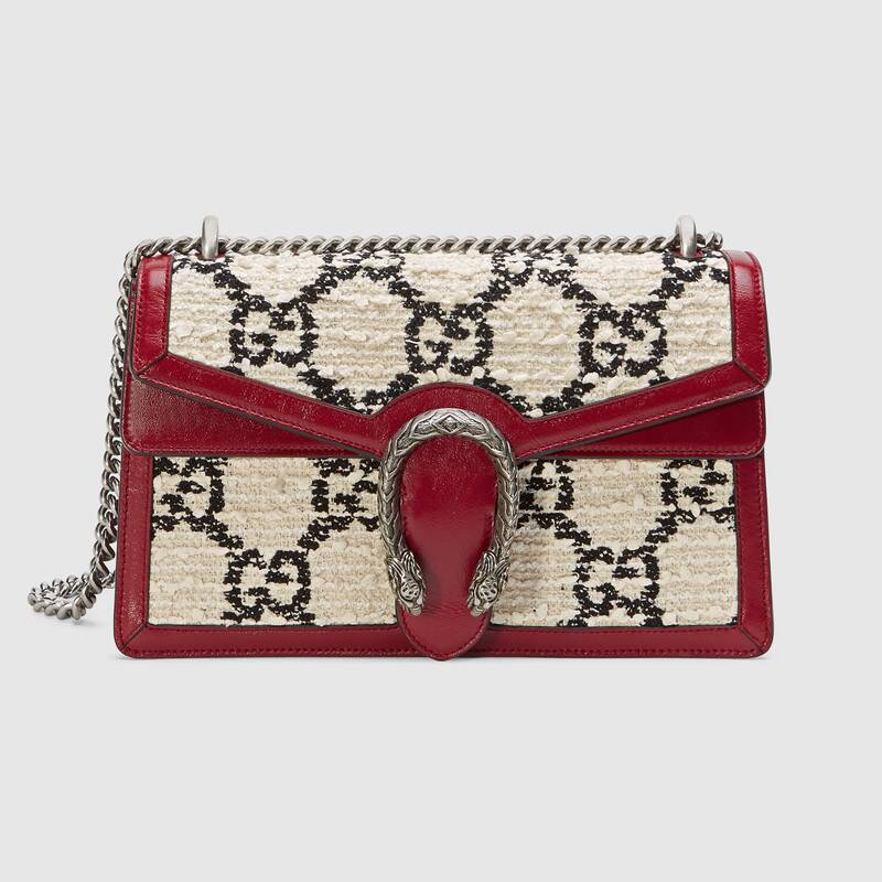 Gucci Dionysus GG Original tweed Shoulder Bag  400249 white