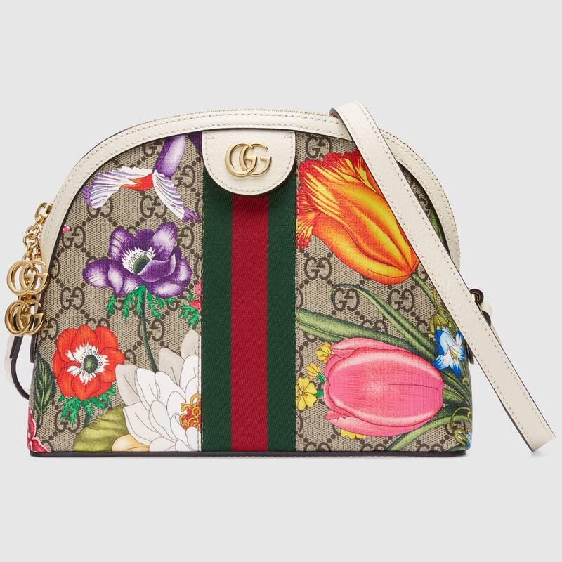 Gucci Ophidia Small Shoulder Bag 499621 white