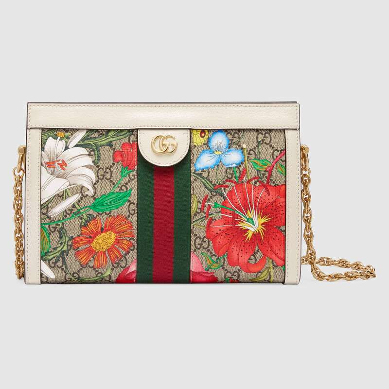 Gucci Ophidia Small Shoulder Bag 503877 white