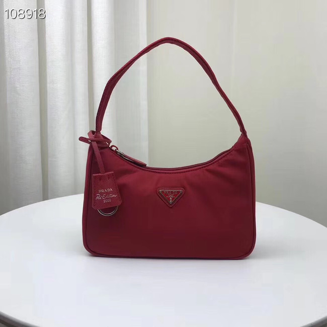 Prada Re-Edition 2000 nylon mini-bag 1NE515 red